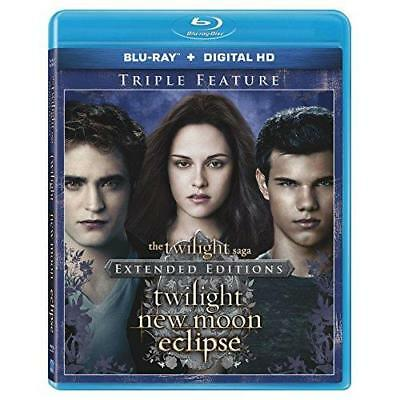 The Twilight Saga: Extended Edition Triple Feature [Blu-ray + Digital HD] New
