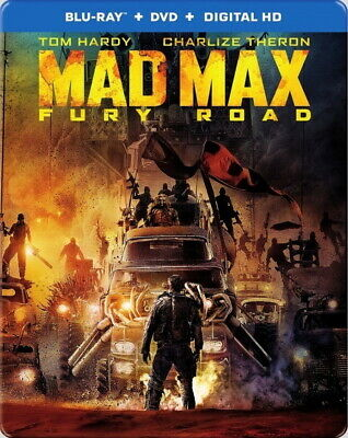 Mad Max Fury Road Blu-ray/DVD Steelbook Best Buy Exclusive 2015 Tom Hardy Action