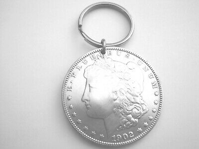 Silver Morgan dollar key ring-nicely domed! Antique coin-gorgeous!