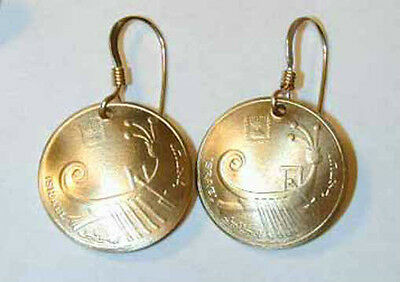 Tiny Israeli  Ancient Galley earrings-handmade in the USA!