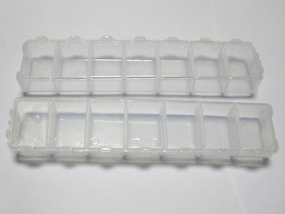 5 Pcs Clear Plastic Box Display Case Beads Storage Container 72X52mm