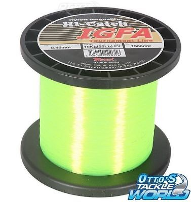 Momoi Hi-Catch IGFA 80 lb. (37kg) Fluoro Yellow Mono Line BRAND NEW at Otto's