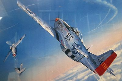 'One of Four that Day', Framed and Signed by Chuck Yeager, Artist Roy Grinnell