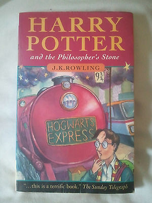 Harry Potter and the Philosopher's Stone (Joanne Rowling 1997 1st Edition) PB