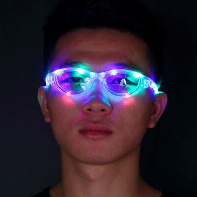 Sparkle 10 LED Colorful Glow Party Club Flashing Sunglasses Glasses Light BY