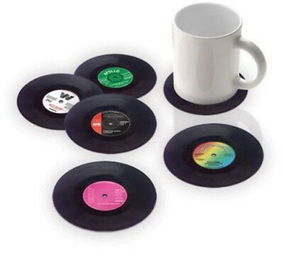 Record Coaster Groovy CD Cup Mat Creative 6PCS Drinks Vinyl Round Placemat