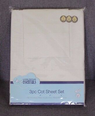 Baby Cot Sheet Set Cotton Nursery Bed Fitted Flat Pillowcase