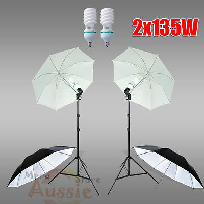 1350W Photography Photo Studio Soft Umbrella Continuous Lighting Light Stand Kit
