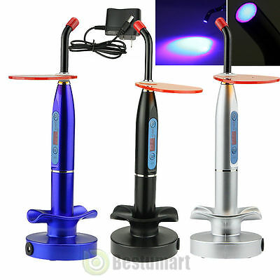 NEW Dental 10W Wireless Cordless LED Curing Light Lamp 2000mw 3 Color