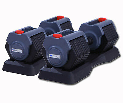 Orbus Adjustable Selective Dumbbells - Free Weights Block Power Weight Training