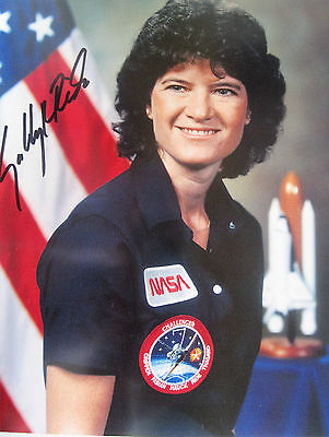 NASA Portrait - Sally Ride,Signed (Uninscribed) Framed, First USA Women in Space
