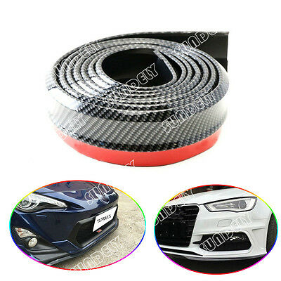 2.5M Carbon Fiber Car Front Bumper Lip Splitter Chin Spoiler Body Trim Strip