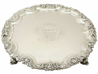 Sterling Silver Salver - Antique George II
