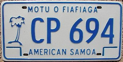AMERICAN SAMOA Palm Tree License Plate - CARGO PASSENGER - AS #CP-694