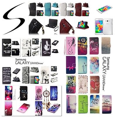 !! DESTOCKAGE !! Etui housse coque Samsung Galaxy Grand Prime Wallet Case Cover