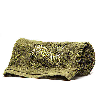 Apothecary 87 Large 600GSM Cotton Barber/Shaving/Face Towel 35x70cm Olive Green