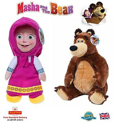 MASHA AND THE BEAR Cartoon Characters Kids Plush Toys Christmas Gift Soft Toy