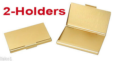 TZ Case Business card Holder All metal Pocket size 2 - Gold ANC002G