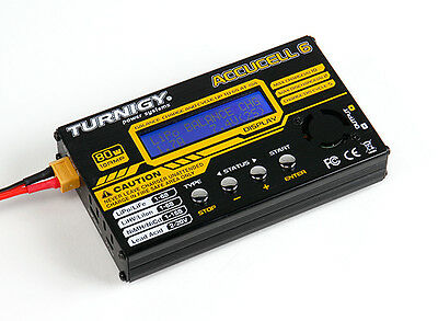 TURNIGY ACCUCEL 6 ACCUCELL BALANCE CHARGER 80W 10A LiPo LiFe LiHV NiMh NiCd USA