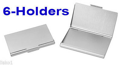 TZ Case Business card Holder All metal Pocket size 6 - Silver  ANC004S