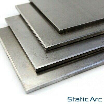 MILD STEEL SHEET METAL SQUARE PLATE 0.8/1/1.2/1.5/2/3/4/5mm THICK CUT SIZES