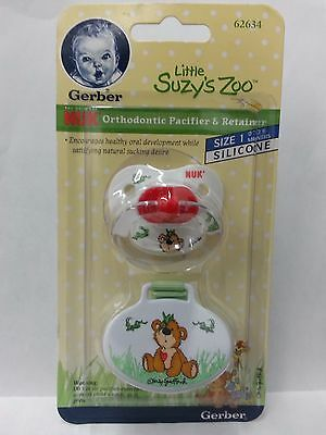 Gerber Little Suzy's Zoo NUK Orthodontic Silicone Pacifier, 0-6 mo. -Styles Vary