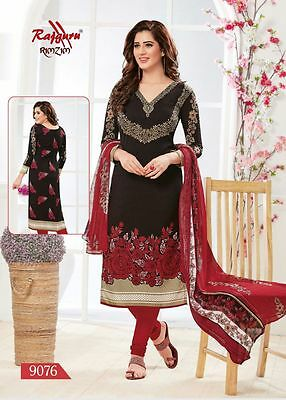 Salwar EDH Kameez Punjabi Suit Indian Ethnic Pakistani Unstitched Synthetic Crep