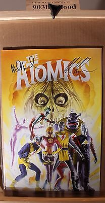 The Atomics Alex Ross Mike Allred Poster Print *double Signed