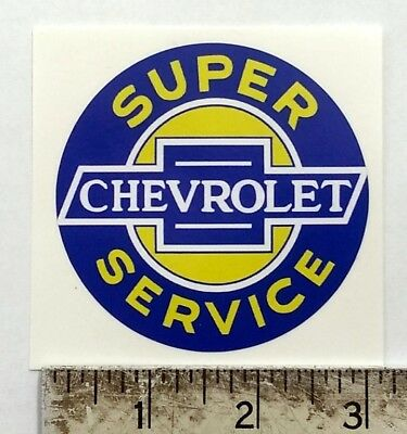 "Vintage Chevrolet Service sticker decal 3"" dia."