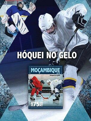 Mozambique 2016 MNH Ice Hockey 1v S/S Sports Stamps