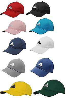 Adidas Mens Sports Peak Cap Baseball Hat 3 Stripes  Adjustable Running Golf