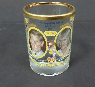 Prince Charles & Camilla Parker Bowles Wedding Shot Glass 8Th April 2005