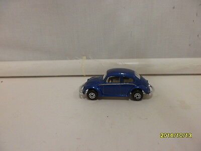 Vw Bug 1300 Blue  By Maisto  1/64 Scale 1994 Loose  B456