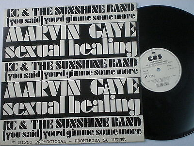 "MARVIN GAYE Sexual Ealing SPAIN PROM0 SPLIT 12"" 1982 Mint KC & SUNSHINE BAND"