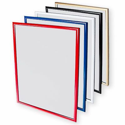 A1A2A3A4 Colour Snap Frame Poster Clip Holders Displays Retail Wall Notice Board