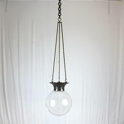 Large 19th Century Hanging Apothecary Globe Pharmacy Advertising Light Fixture