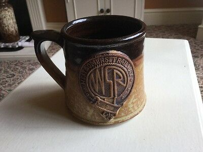 West Somerset Railway Stoneware Pottery Coffee Tea Mug Hand Made