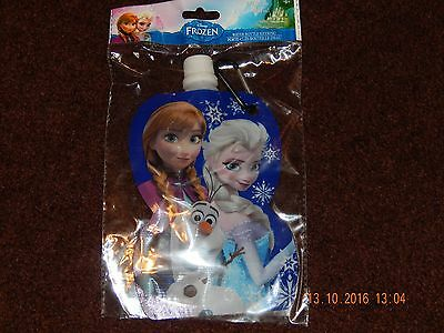 Disney Frozen Anna Elsa Olaf Water Bottle Container With Keyring 230Ml Nwt