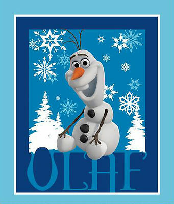 Frozen Disney Olaf New Cotton Wall Hanging/quilt Panel