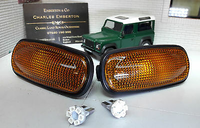 Land Rover Defender TD5 TDCI LED Wing Repeater Indicator Lights XGB000030 x2