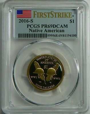 2016-S PROOF Sacagawea Native American Dollar Coin PCGS PR69DCAM FIRST STRIKE