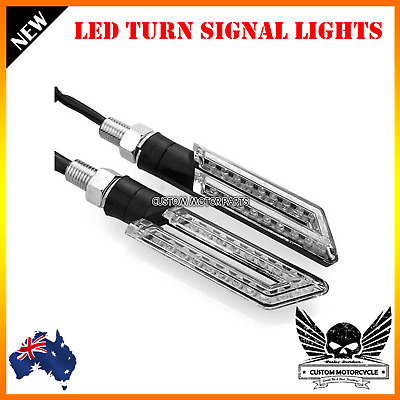 2x Motorcycle LED Turn Signal Indicator Light Kawasaki Ninja 300R Z800 Z1000 14