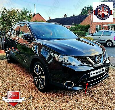 Fits Nissan Qashqai J11 2013-2016 Chrome Front Bumper Streamer 1Pcs S.Steel