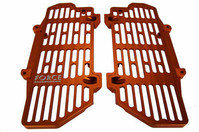 Force Accessories billet radiator guards orange KTM 300EXC two-stroke 2017