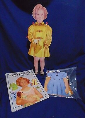 Dover Paper Shirley Temple Dress  Wooden Doll  Book