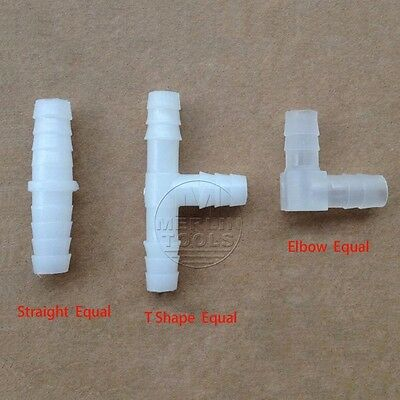 Select 4-14mm Plastic Barb Connector Tube Hose Pipe Fitting Straight / T / Elbow
