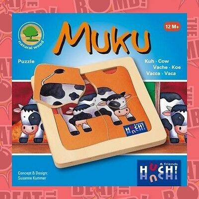 Wooden Line Huch! Muku Puzzle  - BRAND NEW
