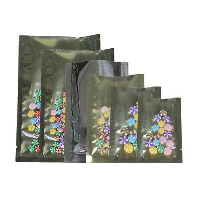 Wholesale Clear/Gold Mylar Open Top Pouch Bag 3x4.75in (8x12cm) E320