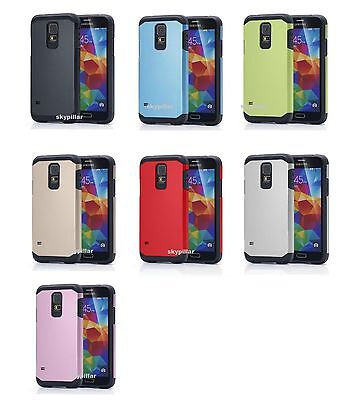 For Samsung GALAXY S5 & S5 Neo - Dual Layer Slim Armor Hybrid TPU Case Cover