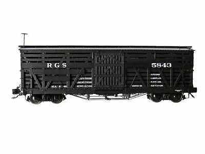 "Accucraft AMS Freight Car "" Stock Car"" black ,1:20,3, G Scale Garden railway"